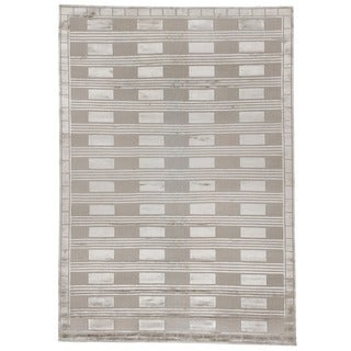 Exquisite Rugs Metro Velvet Silver Art Silk/Wool-on-cotton Foundation Rug (8' x 10')