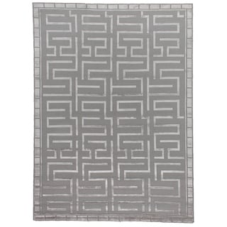 Exquisite Rugs Metro Velvet Silver New Zealand Wool and Silk Rug (8' x 10')
