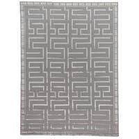 Exquisite Rugs Metro Velvet Silver New Zealand Wool and Silk Rug - 8' x 10'