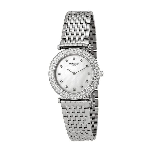 Longines Women's L43080876 'La Grandes Classiques Flagship' Diamond Stainless Steel Watch. Opens flyout.