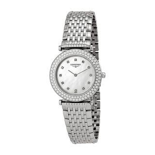Longines Women's L43080876 'La Grandes Classiques Flagship' Diamond Stainless Steel Watch