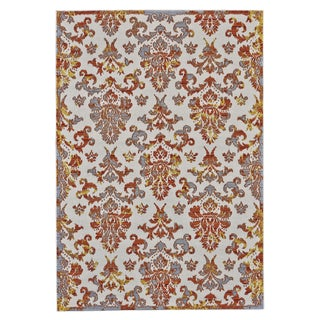 Grand Bazaar Saunders Apricot Synthetic Machine-made Rug (10' x 13'2)