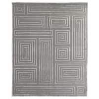 Exquisite Rugs Metro Velvet Silver New Zealand Wool and Viscose Rug - 10' x 14'