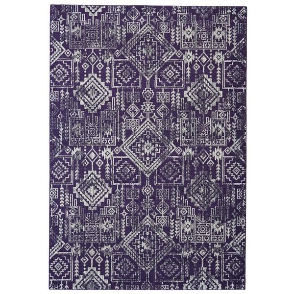 Shop Grand Bazaar Undira Violet Area Rug 10 X 13 2