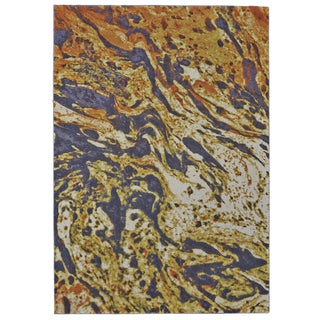 Grand Bazaar Grey/Orange/Yellow Polypropylene Power-loomed Abstract Rug (10' x 13'2)