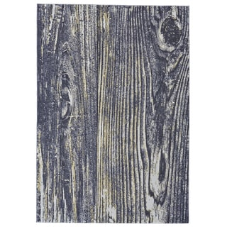 Grand Bazaar Capri Collection Black/ Grey/ Yellow Abstract Area Rug (10' x 13'2