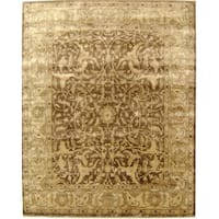 Exquisite Rugs Sultanabad Tobacco / Beige New Zealand Wool Rug (10' X 14')