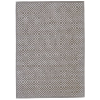 Grand Bazaar Merna Birch/Taupe Polypropylene and Polyester Machine-made Latex-free Rug (2'2 x 4')