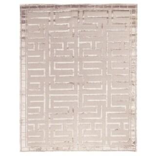 Exquisite Rugs Metro Velvet Beige Wool/Silk Rug (10' X 14')