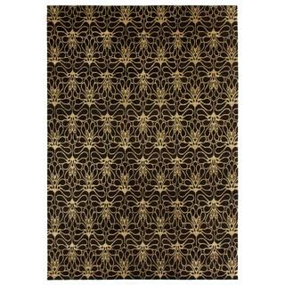 Exquisite Rugs Metropolitan Brown/Beige New Zealand Wool Rug (10' x 14')