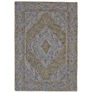 Grand Bazaar Iona Venture Multicolored Cotton and Wool Tufted Rug (2' x 3')