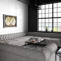 Moser Bay Furniture Garcia Tufted Linen U-shaped Sectional Sofa