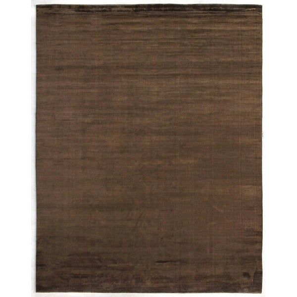 Exquisite Rugs Swell Brown Viscose Rug (15' X 20') - 15' X 20'