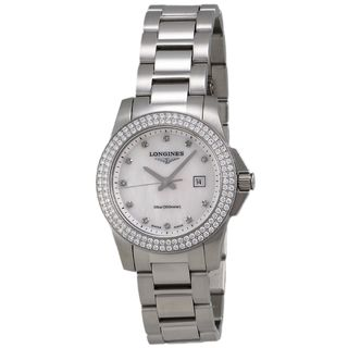 Longines Women's L32580876 'Conquest' Diamond Stainless Steel Watch