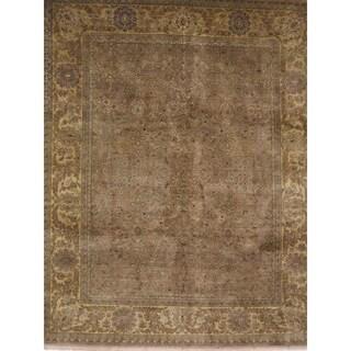 Exquisite Rugs Fine Agra Beige New Zealand Wool Rug (14'2 x 18'6)