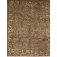 Exquisite Rugs Fine Agra Beige Hand-spun New Zealand Wool Rug (14'2'' x 18'6'')
