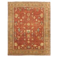 Exquisite Rugs Serapi Red/Gold New Zealand Wool Rug - 14' X 19'