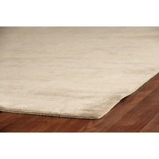 Exquisite Rugs Swell Light Beige Viscose Rug (14' x 18') - 14' x 18'