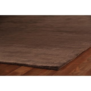 Exquisite Rugs Swell Brown Viscose Rug (14' x 18')