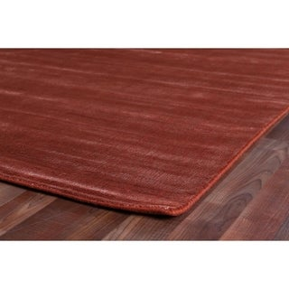 Exquisite Rugs Super Gem Orange Viscose from Bamboo Silk Rug (14' x 18')