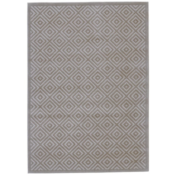 Grand Bazaar Merna Birch/Taupe Polyester/Polypropylene Machine-made Rug - 5' x 8'