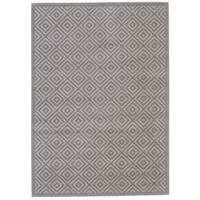 Grand Bazaar Merna Birch/Taupe Polyester/Polypropylene Machine-made Rug - 5' x 8'