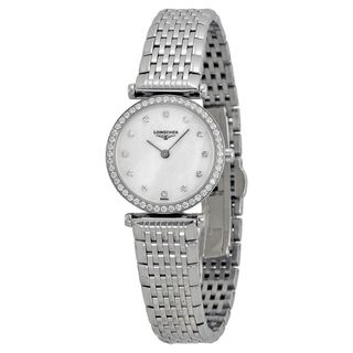 Longines Women's L42410806 'La Grandes Classiques Flagship' Diamond Stainless Steel Watch