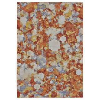 Grand Bazaar Saunders Nectar Machine-made Rug (5' x 8')