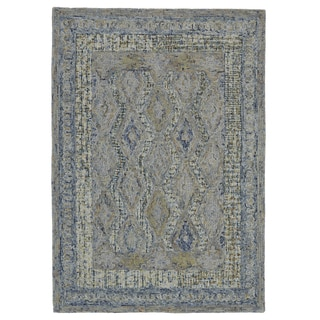 Grand Bazaar Iona Aura Cotton and Wool Tufted Rug (3'6 x 5'6)