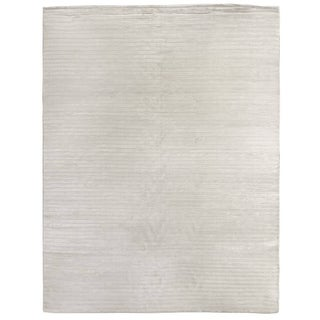 Exquisite Rugs High Low White Viscose Rug (14' x 18')