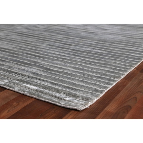Exquisite Rugs High Low Light Blue Viscose Rug - 14' x 18'
