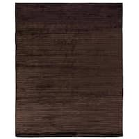 Exquisite Rugs High Low Chocolate Viscose Rug - 14' x 18'