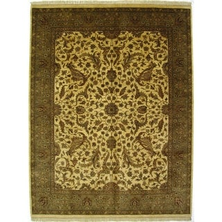 Exquisite Rugs Moghul Ivory/Blue/Green New Zealand Wool Rug (14' x 18')