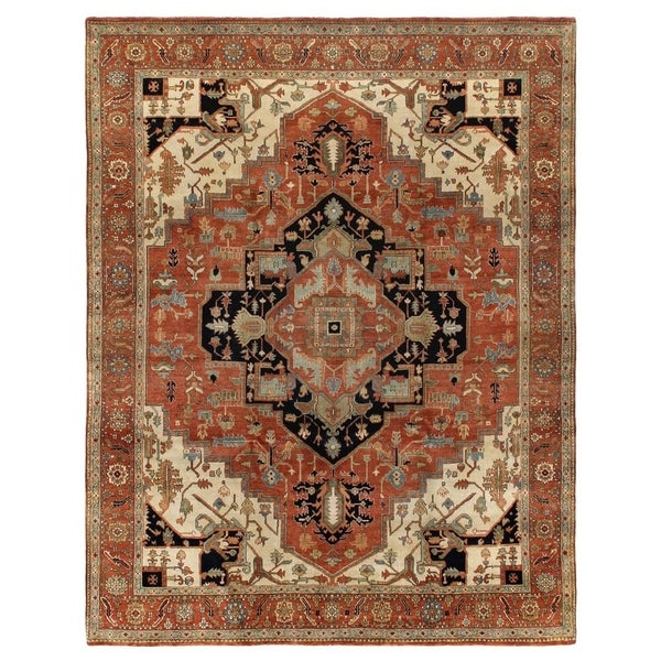 Exquisite Rugs Serapi Red New Zealand Wool Rug - 14' x 18'