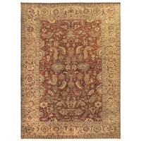 Exquisite Rugs Serapi Rust / Gold New Zealand Wool Rug - 14' x 18'
