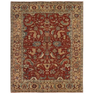 Exquisite Rugs Serapi Red / Gold New Zealand Wool Rug (14' x 18')