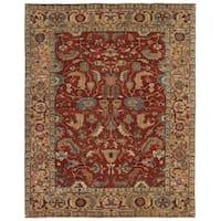 Exquisite Rugs Serapi Red / Gold New Zealand Wool Rug - 14' x 18'