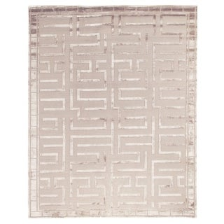 Exquisite Rugs Metro Beige Silk, Wool Hand-knotted Rug (14' x 18')