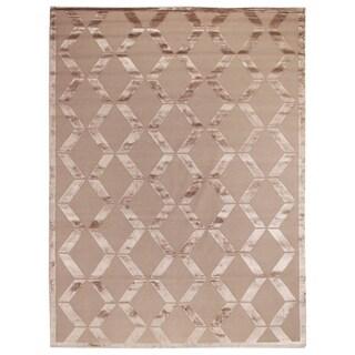 Exquisite Rugs Metro Velvet Beige Wool/Art Silk Rug (14' x 18')