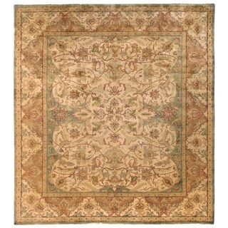 Exquisite Rugs European Polonaise Cream / Sage New Zealand Wool Rug (14' x 16')