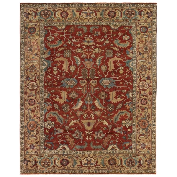 Exquisite Rugs Serapi Red / Gold New Zealand Wool Rug (13'8'' x 21'10'')