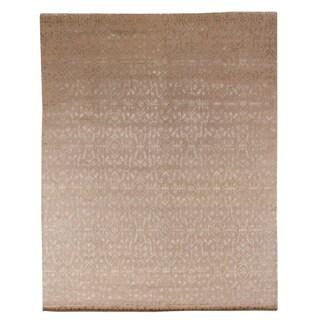 Exquisite Rugs Tibetan-weave Ivory Wool/Silk Rug (13'6 x 17'6)
