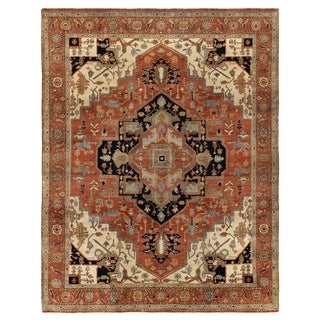 Exquisite Rugs Serapi Red / Multi New Zealand Wool Rug (13' x 15')