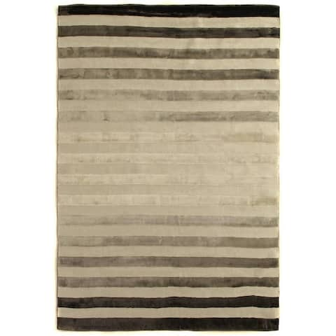 Exquisite Rugs Tube Grey Viscose Rug - 12' x 15'