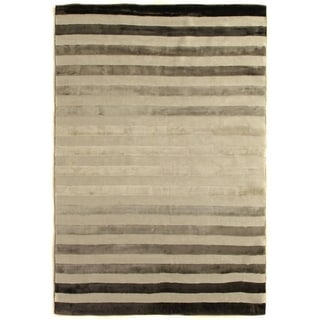 Exquisite Rugs Tube Grey Viscose Rug (12' x 15')