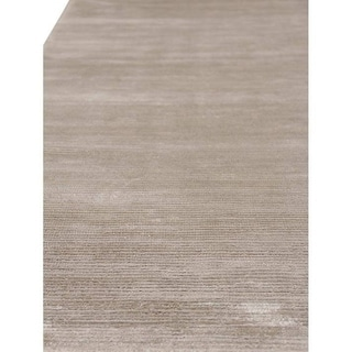 Exquisite Rugs Silver Viscose Handmade Rug (12' x 15')