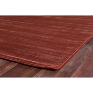 Exquisite Rugs Super Gem Orange New Zealand Wool and Bamboo Silk Rug - 12' x 15'