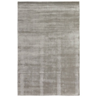 Exquisite Rugs Super Gem Blue Viscose from Bamboo Silk Rug (12' x 15')