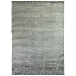 Exquisite Rugs High Low Aqua Viscose Rug (12' x 15')