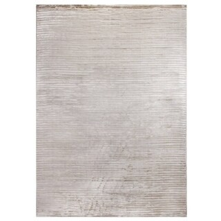 Exquisite Rugs High Low Light Beige Viscose Rug (12' x 15')